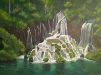 akril-40x50-plitvicka-jezera-mali-slapovi