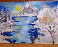 zimska_idila_ulje_na_platnu_50x70