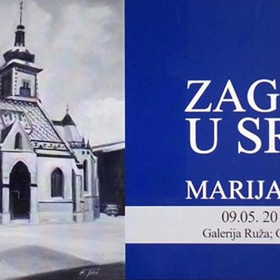 """Izložba Marije Tokić """"Zagreb u srcu"""""""