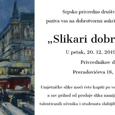 """Blagdanska humanitarna aukcija """"Slikari dobrog srca"""""""