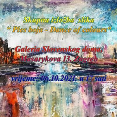 """Skupna izložba slika """" Ples boja - Dance of colours"""""""