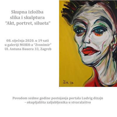 """Skupna izložba slika i skulptura """"Akt, portret, silueta"""""""